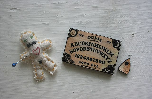 Miniature Voodoo Doll and Ouija Board | Flickr