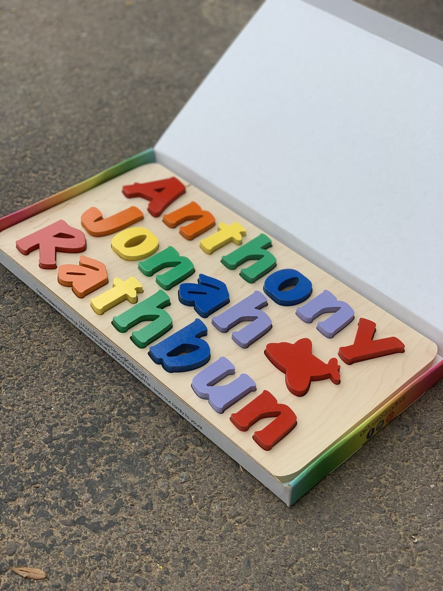 Russet Road Kids Name puzzle, Road kids, Cool color names