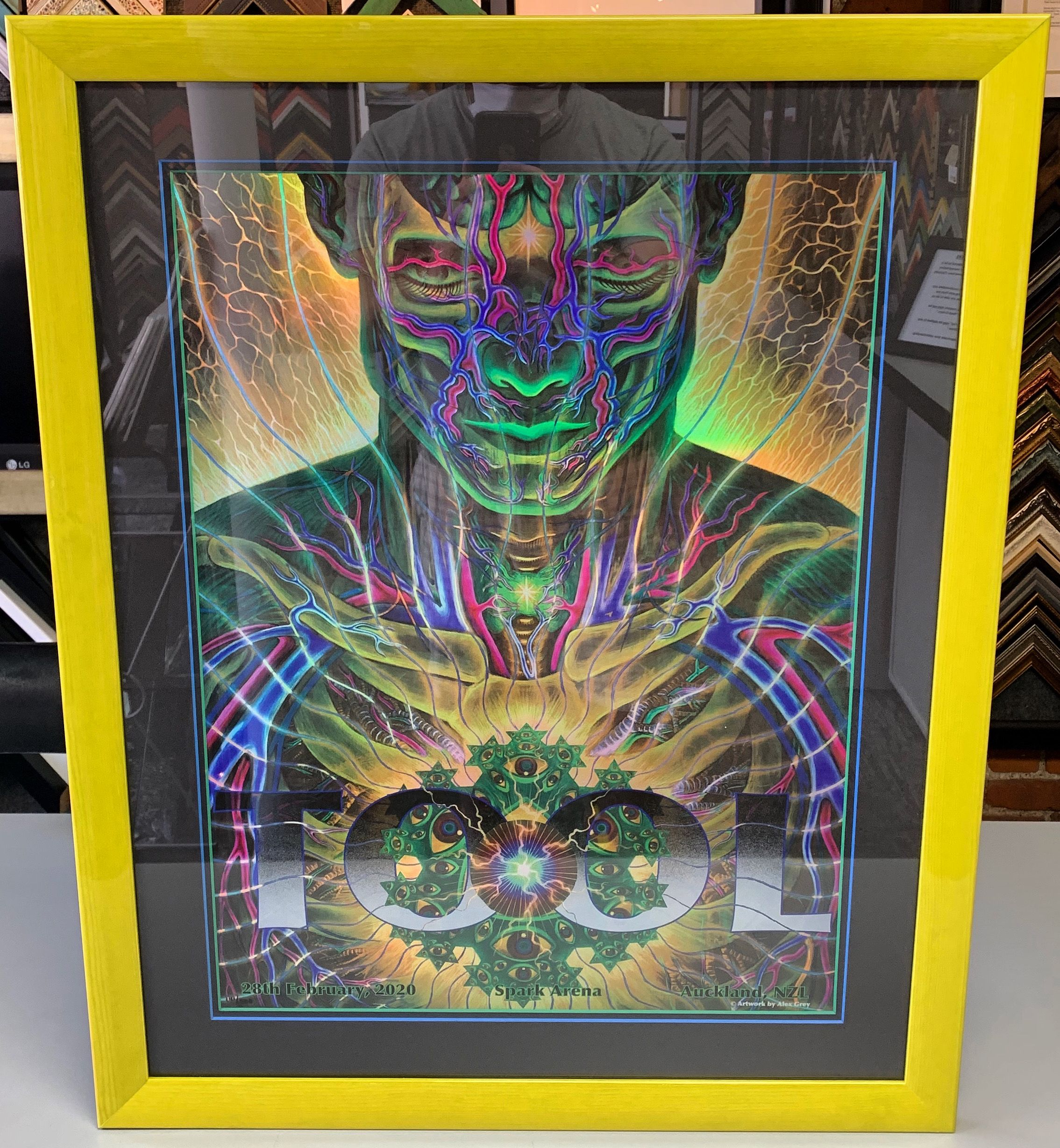 Limited Edition Tool Auckland New Zealand print using two