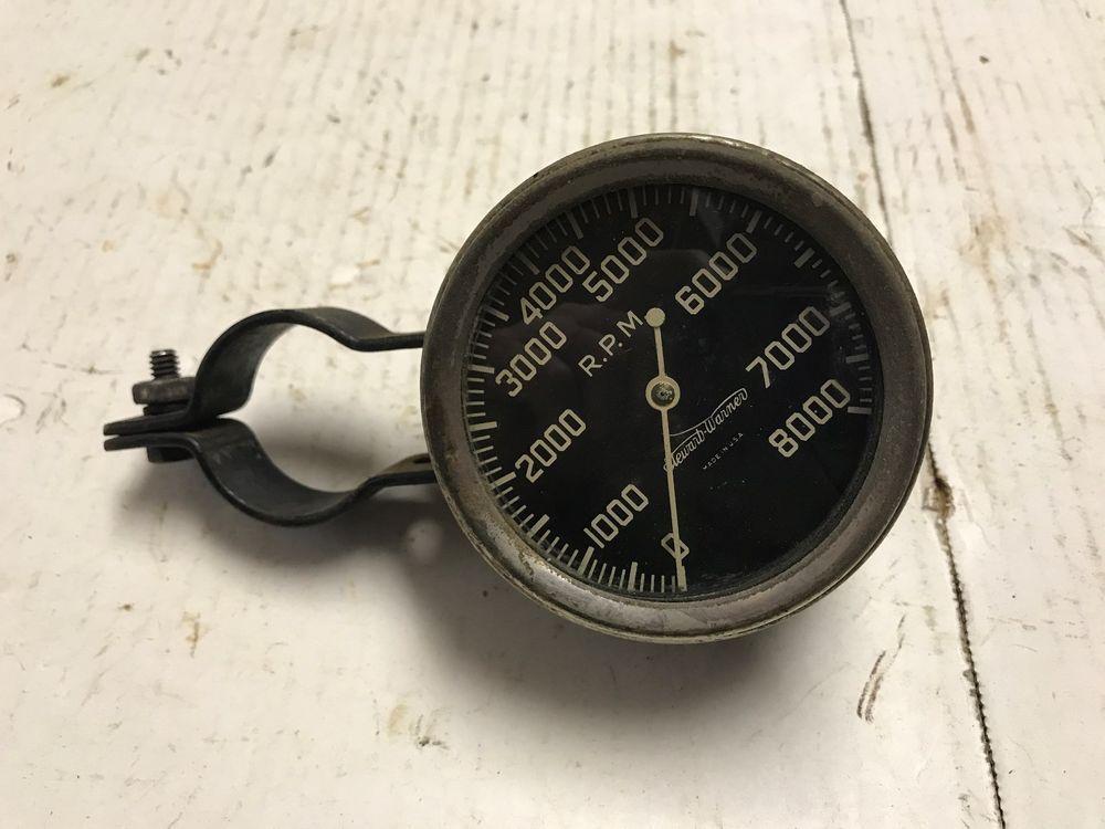 Vintage Stewart Warner tachometer, Rat Rod, race car, steering