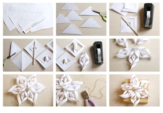 How To Make A Paper Snowflake Printable Template 3d Snowflakes