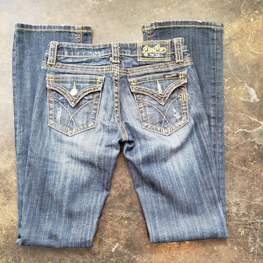 78b5c07b Miss Me Jeans - Womens straight leg - missing button - size 27 #fashion #