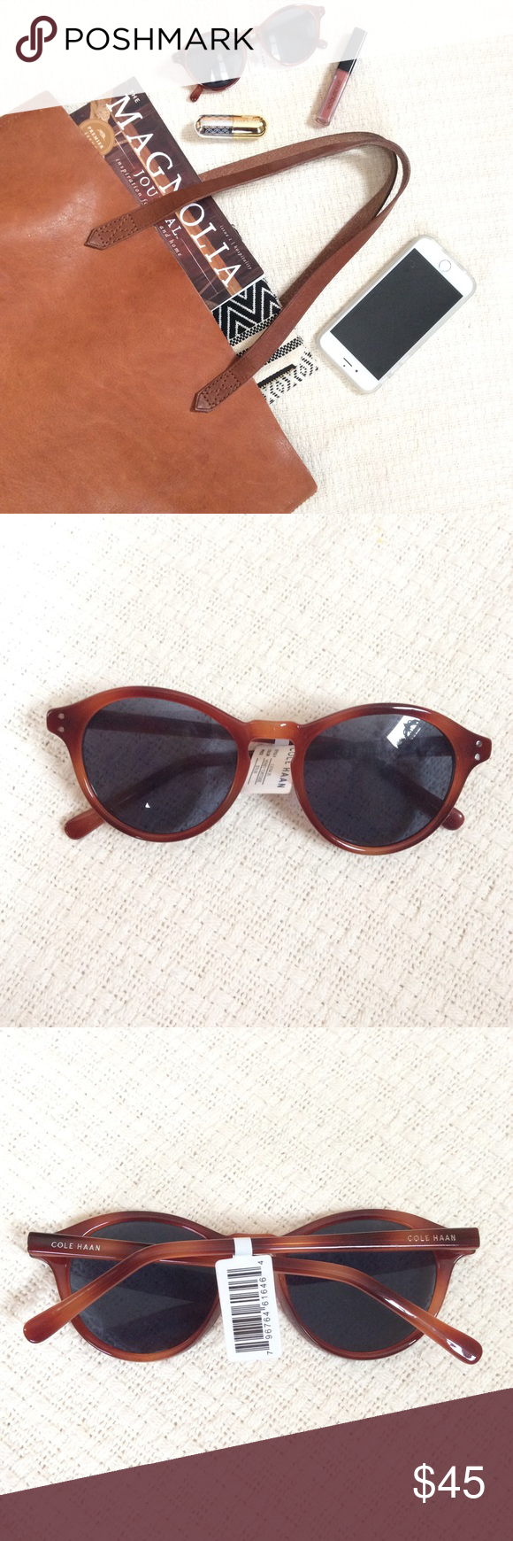 fb3eb3a8dd8 🆕 Listing  Cole Haan Round Sunnies Round tortoise shell sunglasses by Cole  Haan. In Honey Tortoise