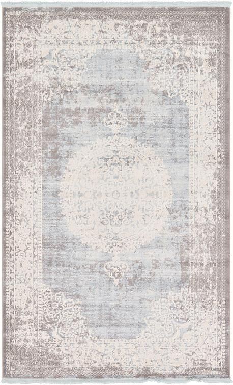 Light Blue New Vintage Area Rug Starter Home In 2019