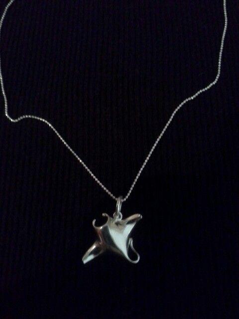 stingray necklace ♡  jewelry necklace silver necklace