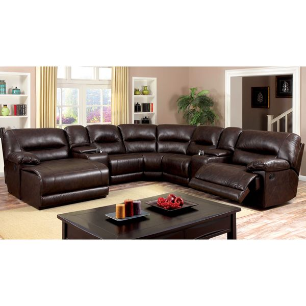 Tennor Traditional Brown 7-Piece Sectional By FOA