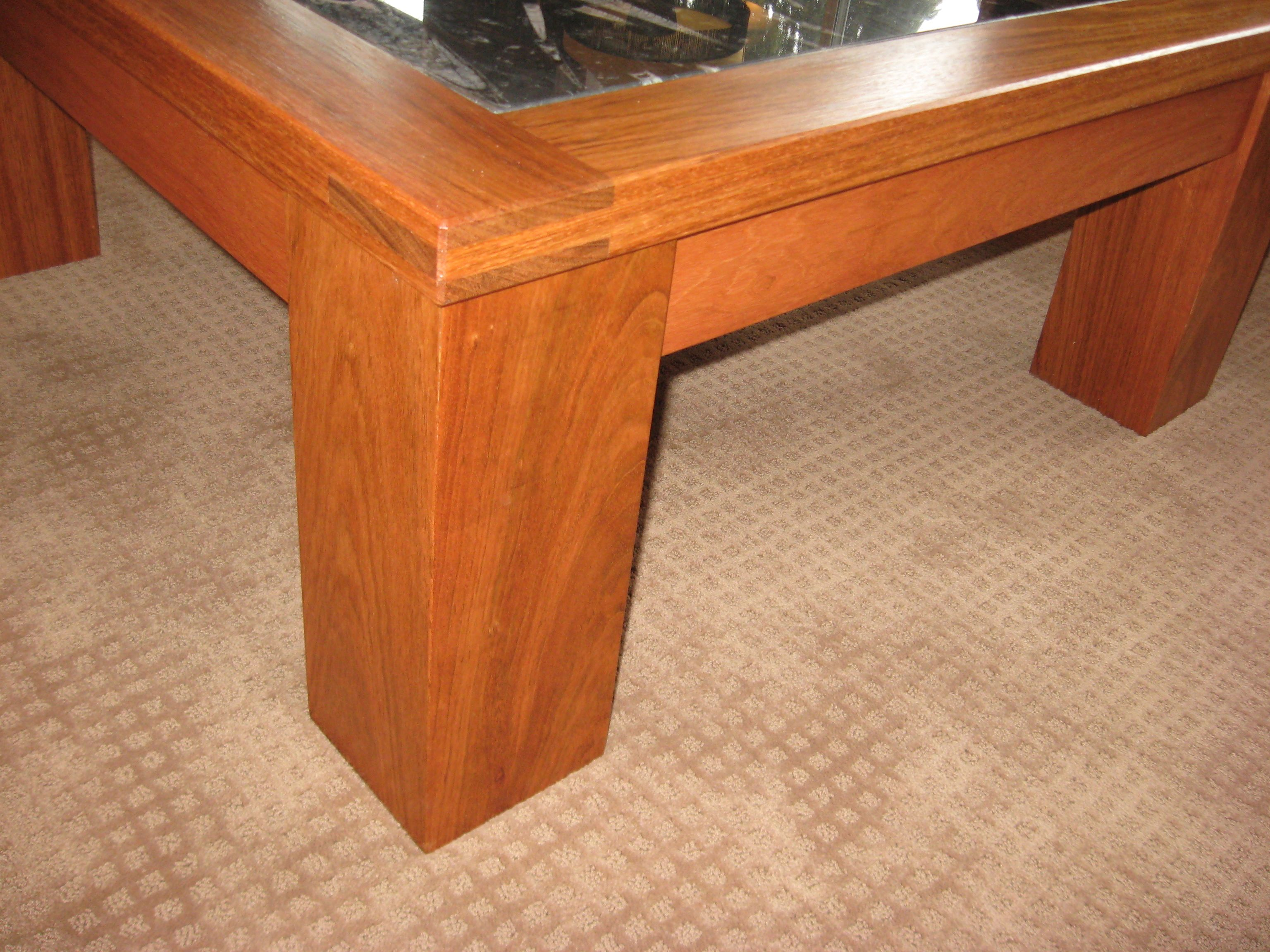 a87e6ca7498 Jatoba wood coffee table- mortise   tenon joint close up.