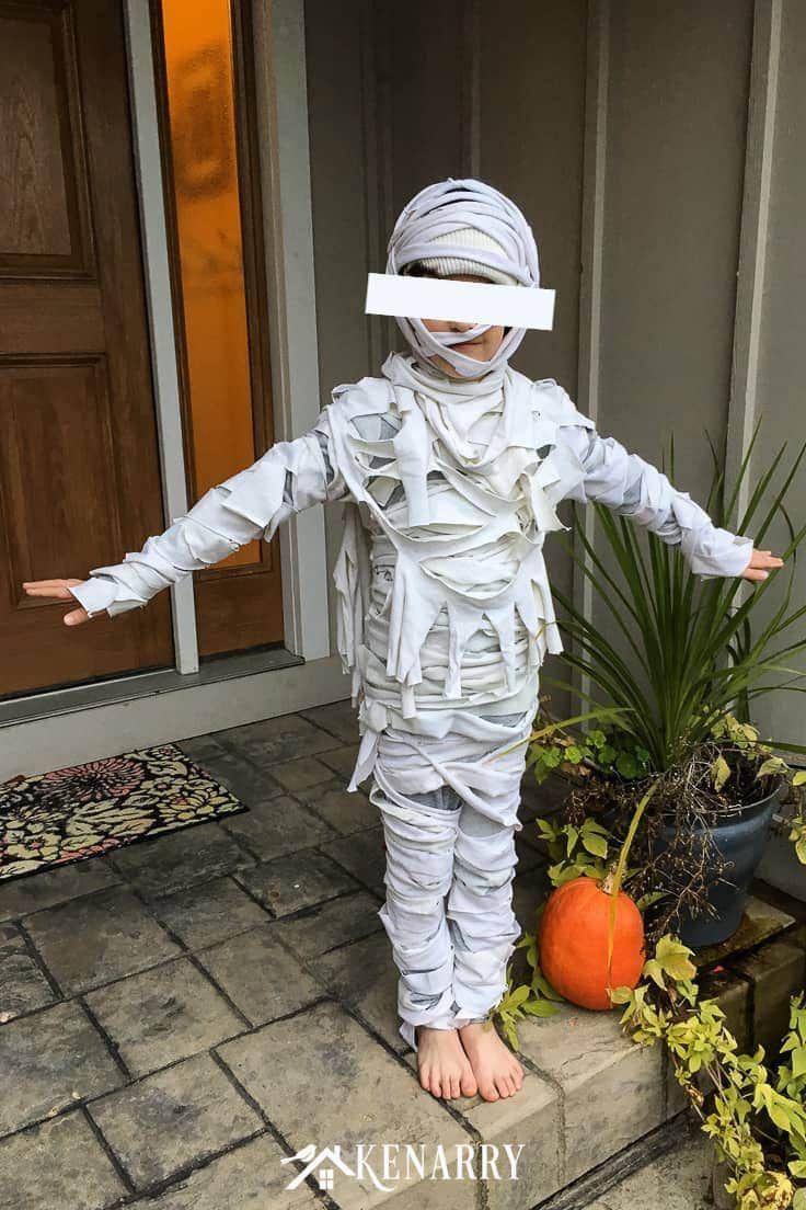 Mummy Costume for Kids Easy DIY Halloween Costume Easy