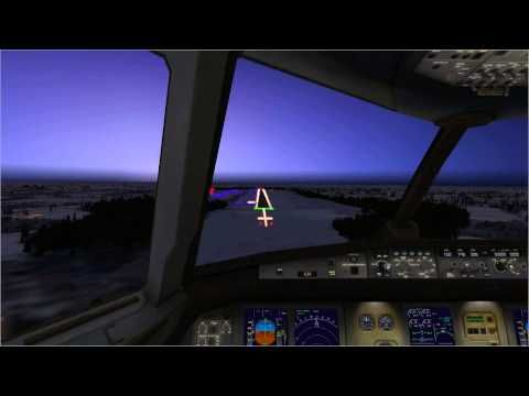 FSX Landing at Szczecin airport with Airbus A320 Wizzair