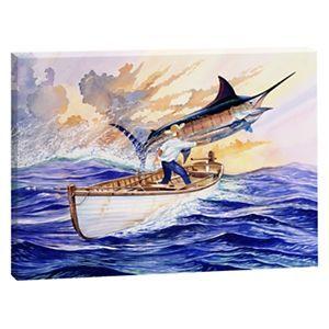 Guy Harvey Canvas Art The Old Man And The Sea Sea Life Art Canvas Art Art