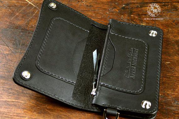 Medium Midnight Black Trucker Wallet от AfterMidnightLondon