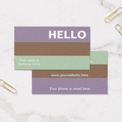 Hello plum mint color palette minimal classy business card professional hello plum mint color palette minimal classy business card reheart Gallery