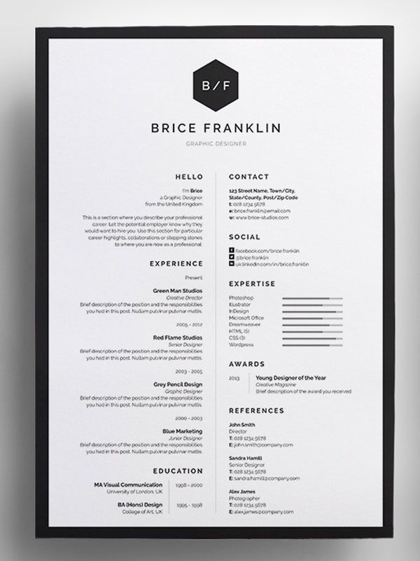 amazing-resume-template-2016-13jpg (600×800) CV Mari - amazing resume templates