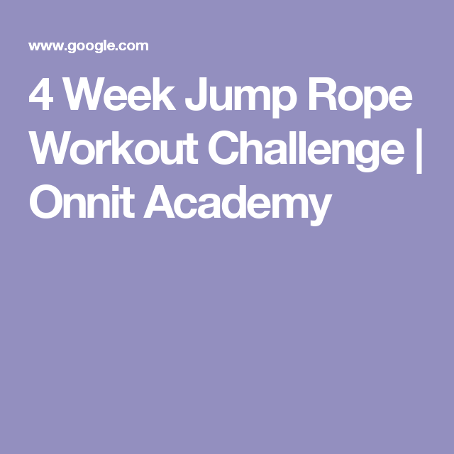 4 Week Jump Rope Workout Challenge | Onnit Academy