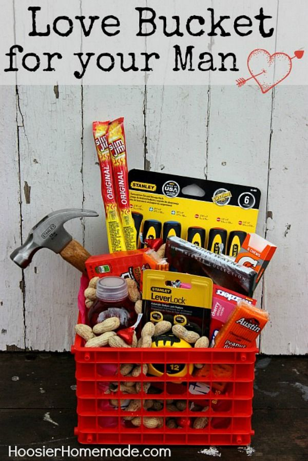 valentines day love bucket for your man - Valentines Day Presents For Your Boyfriend