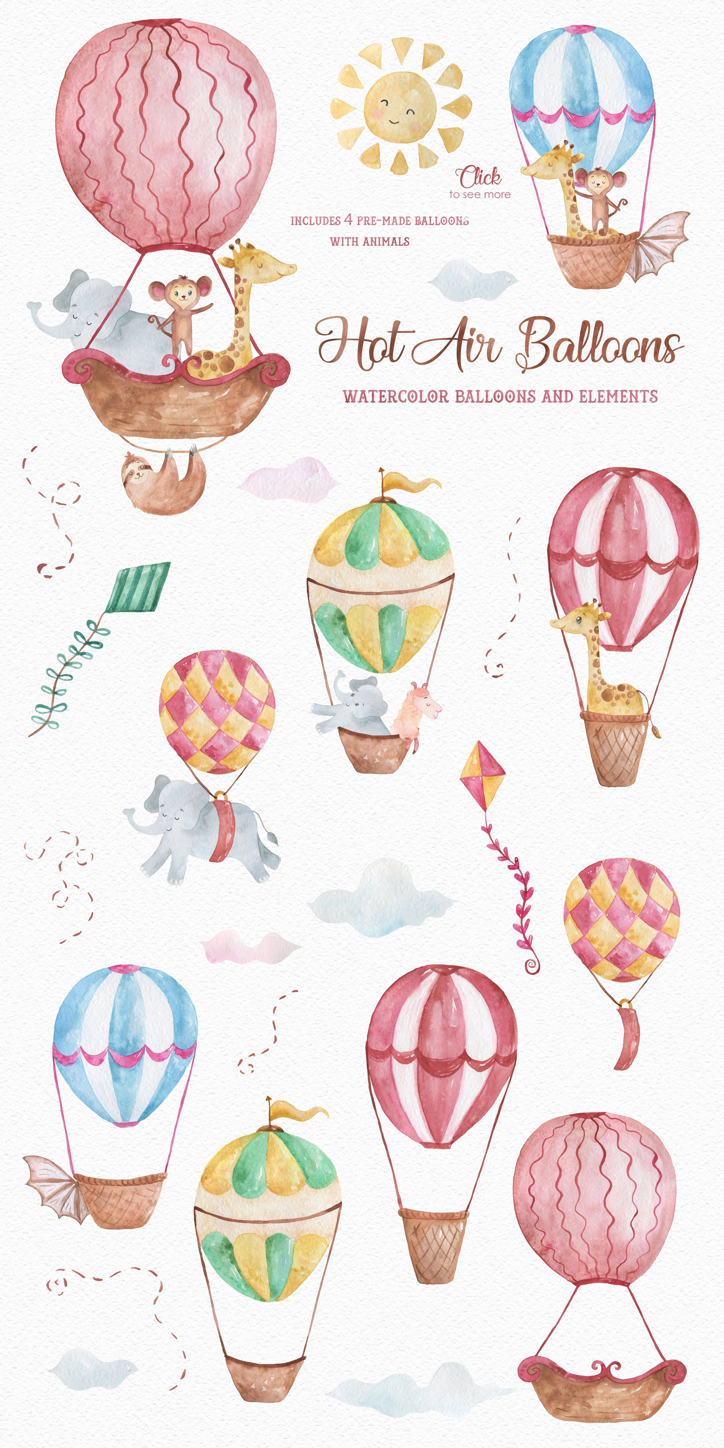 The Best Watercolour Hot Air Balloon Illustration Wallpapers