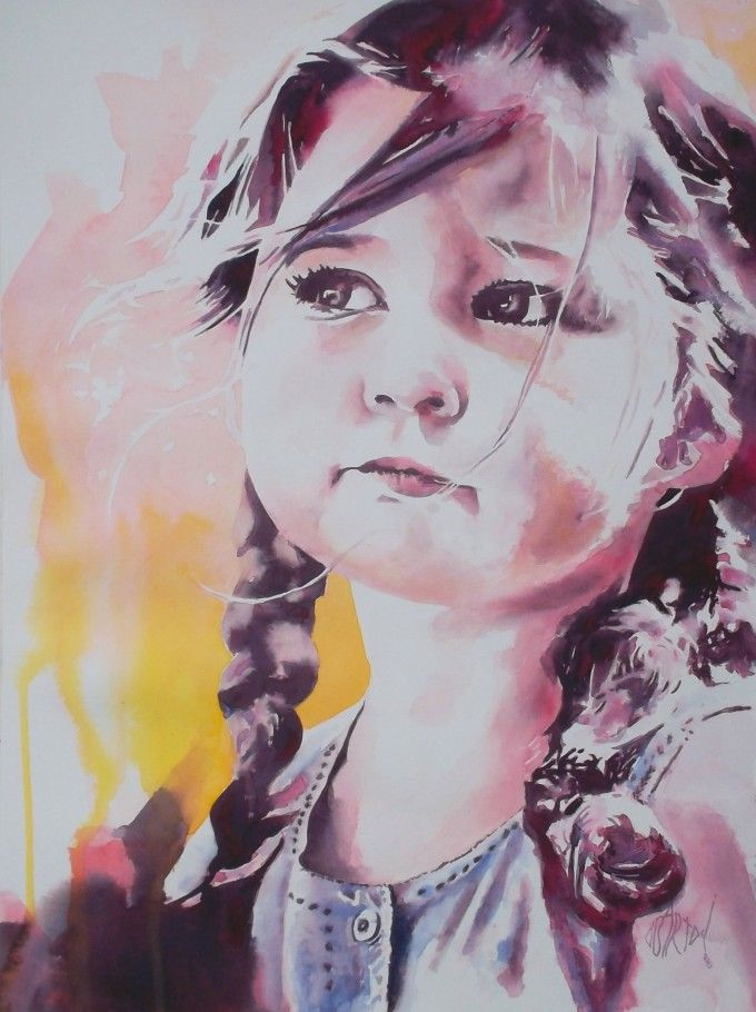 Olivier Bartoli Watercolor Portrait Art Watercolor Portraits