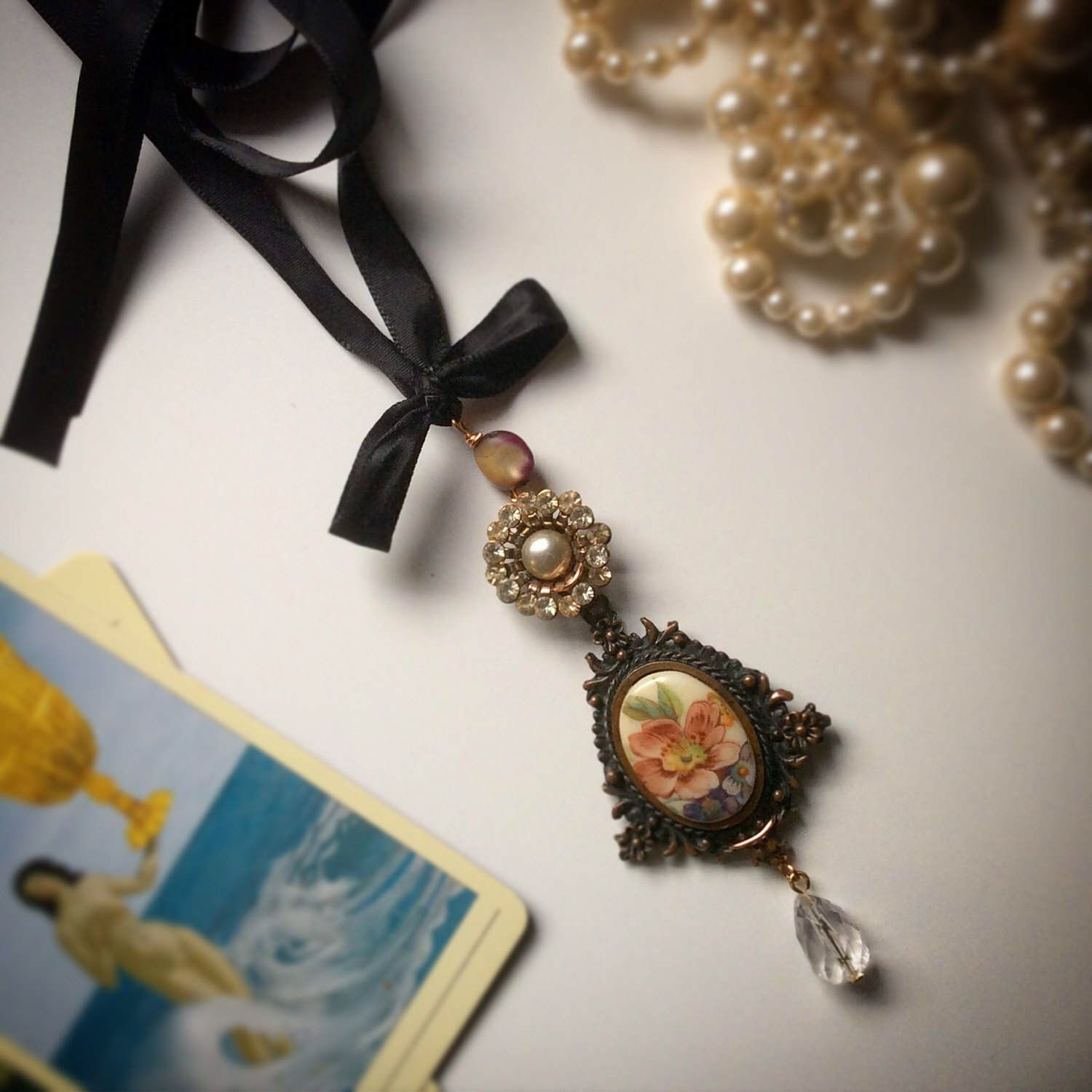 A personal favourite from my Etsy shop https://www.etsy.com/au/listing/503708968/liza-vintage-necklet