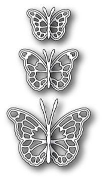 Cascadia Butterfly Steel Die Cut Memory Box Cutting Dies Solid butterflies 99095