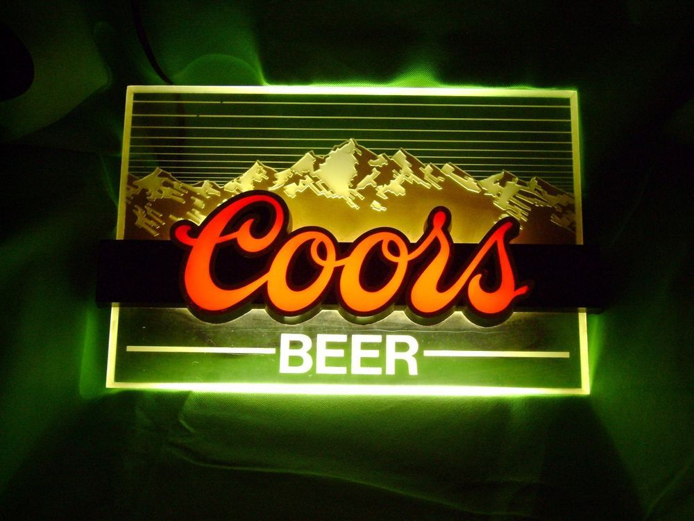 Vintage 80's Coors Beer Lighted Bar Sign Great Working