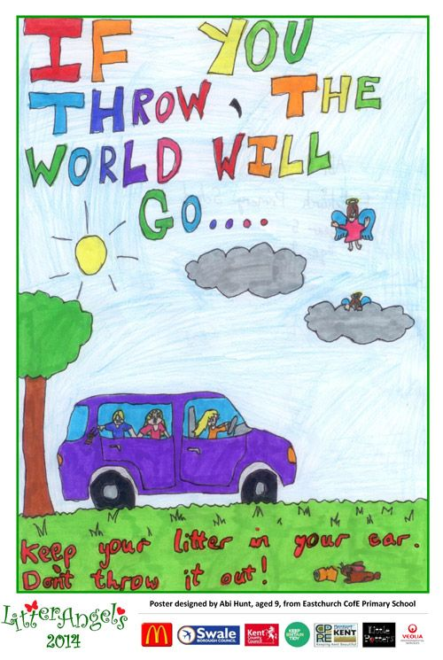 2014 Litter Angels Competition Winner Announced Litter School Posters Campaign Posters