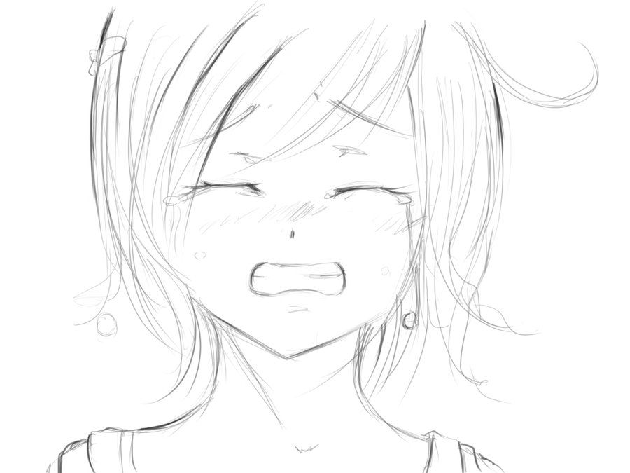 Sad girl crying galleries sad girl drawing sad anime girl