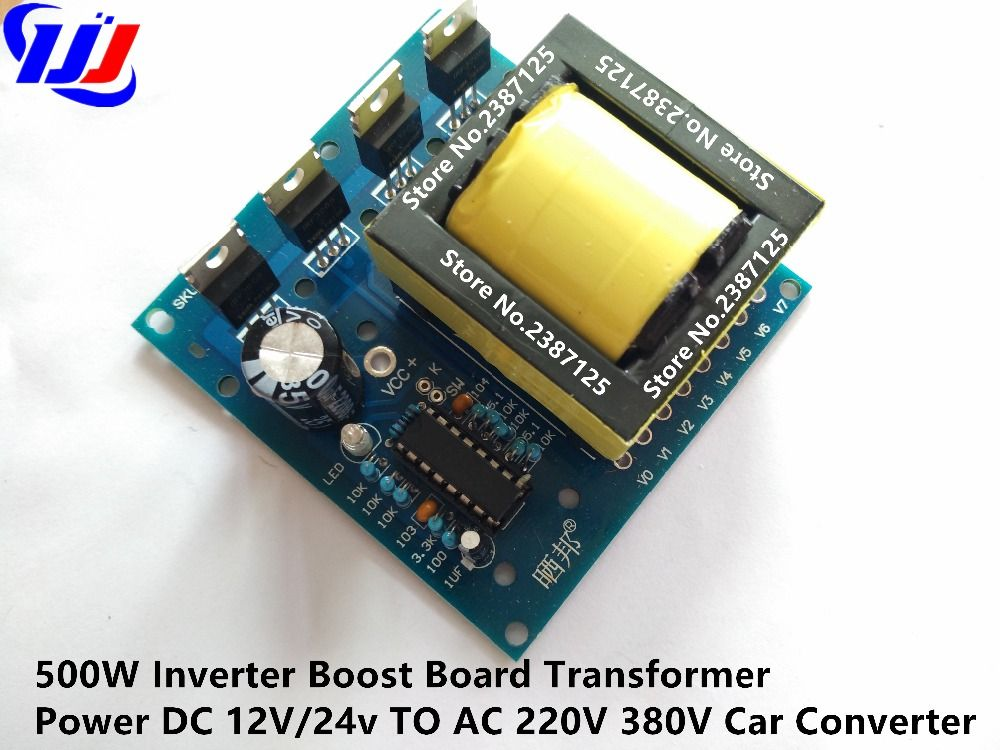 sale 500w inverter boost board transformer power dc 12v24v