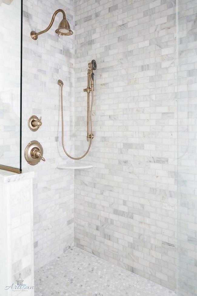 70 Wonderful Bathroom Tiles Ideas For Small Bathrooms Farmhouse Shower Patterned Bathroom Tiles Bathroom Tile Designs