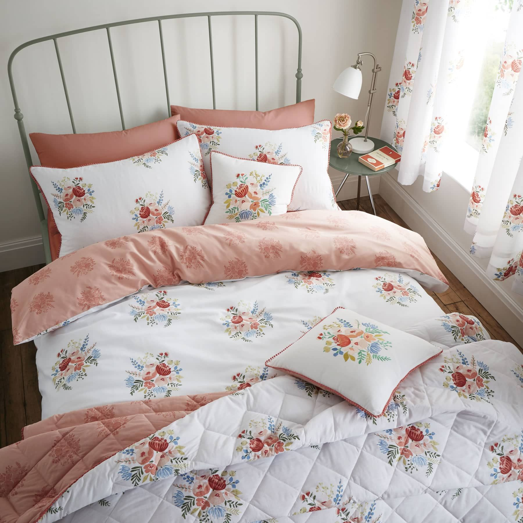 s Retro Floral Pastel Duvet Cover Set With Pillowcase By Catherine Lansfield