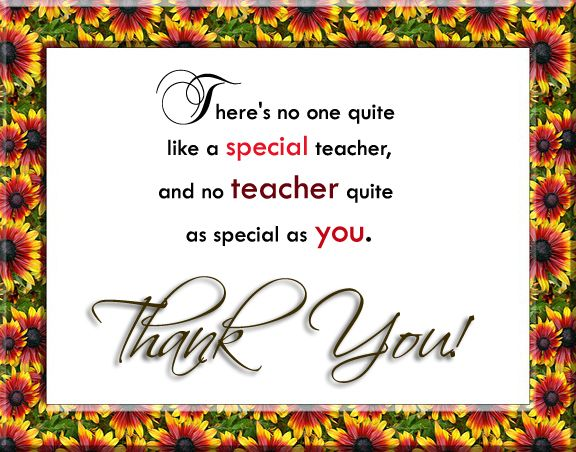 Thank You Quotes  Teacher Appreciation And Gratitude