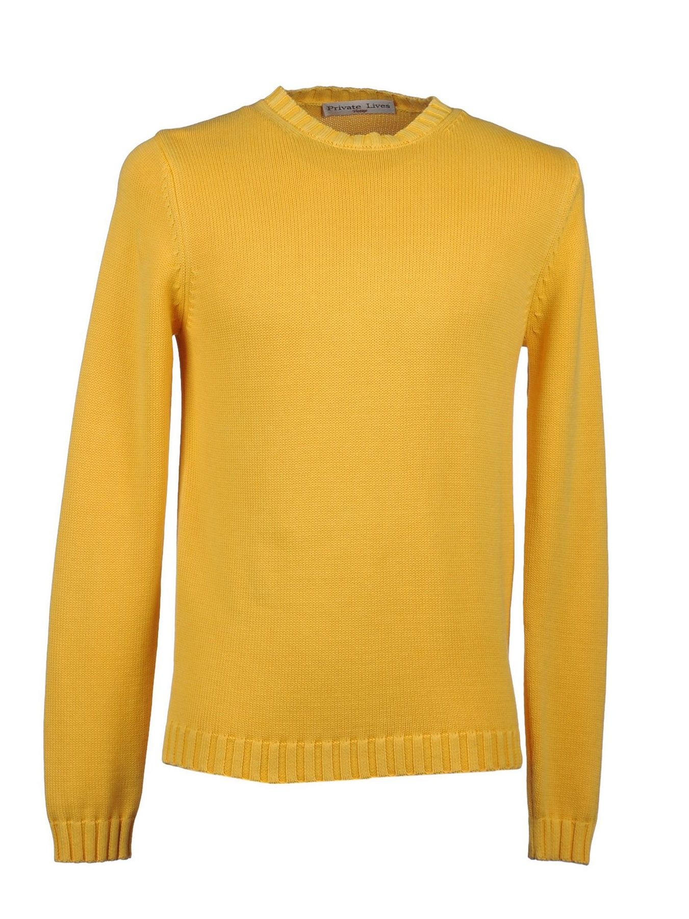 Private Lives Men Yellow Cotton Sweater Made in Italy | My Summer ...