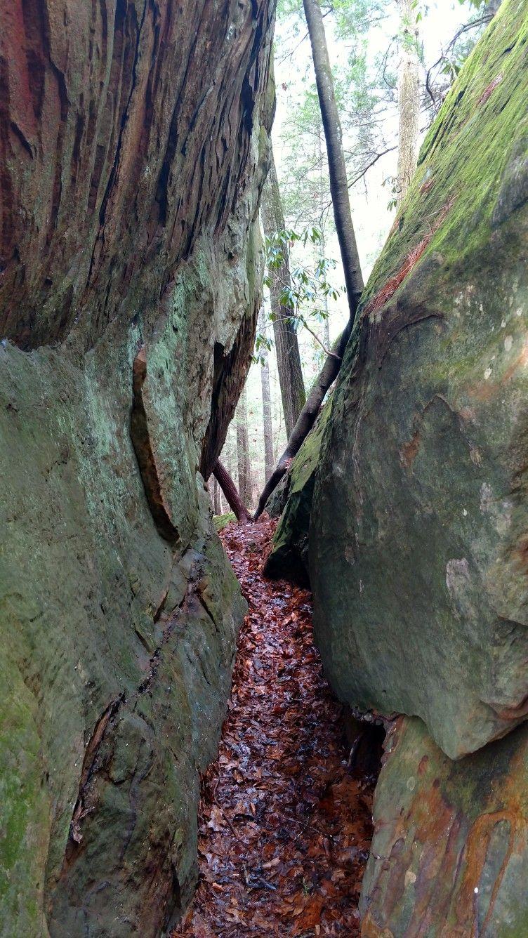 Path between stone walls