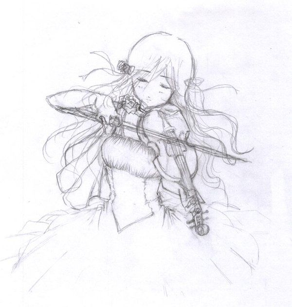 I Wanted To Draw A Violin By Sinussa Deviantart Com On Deviantart