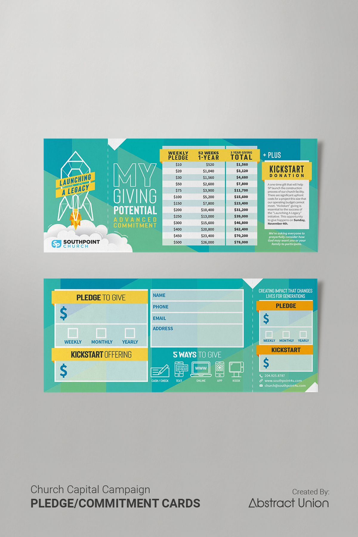 3 5 X 8 5 Rip Pledge Cards Commitment Card Design Church Capital Campaign Card Template Capital Campaign Brochure