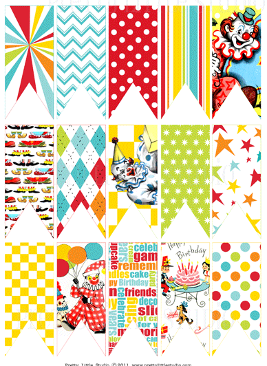 picture about Free Carnival Printable called Brilliant hues and styles circus bunting #carnival #free of charge