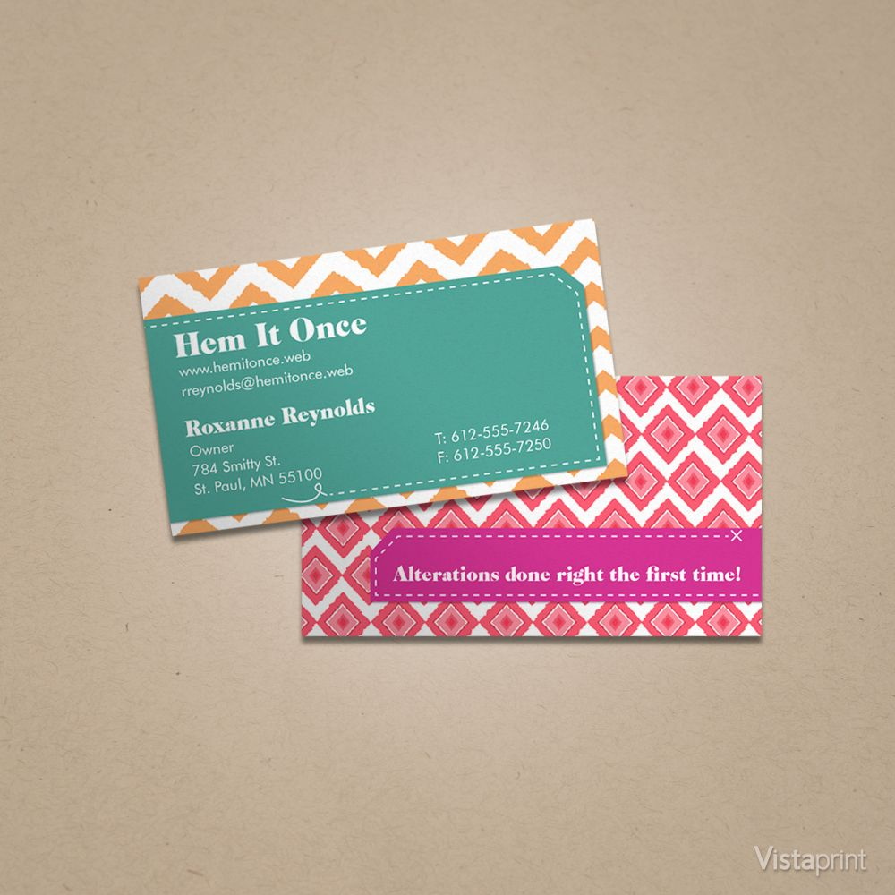 Custom Chevron Business Cards | Vistaprint | Business Card Ideas ...