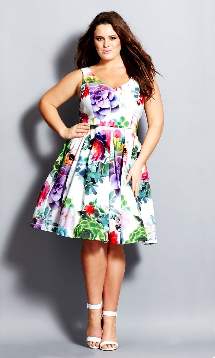 Women's Plus Size Succulent Sweetie Dress | City Chic USA