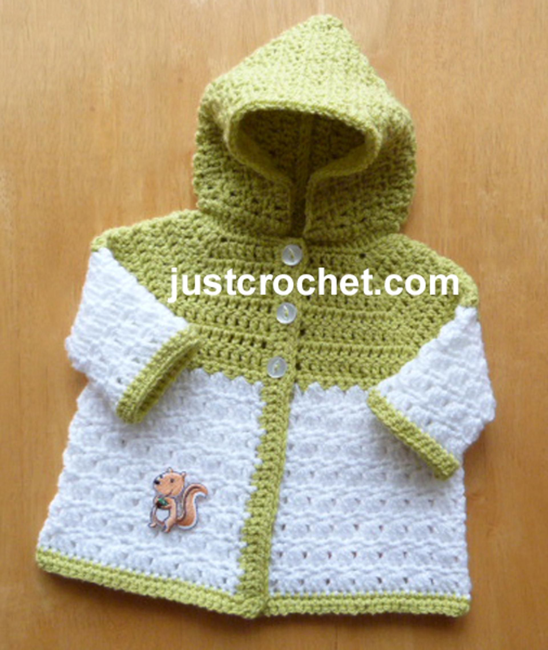 fjc124-Newborn Hooded Coat Baby Crochet Pattern | Craftsy