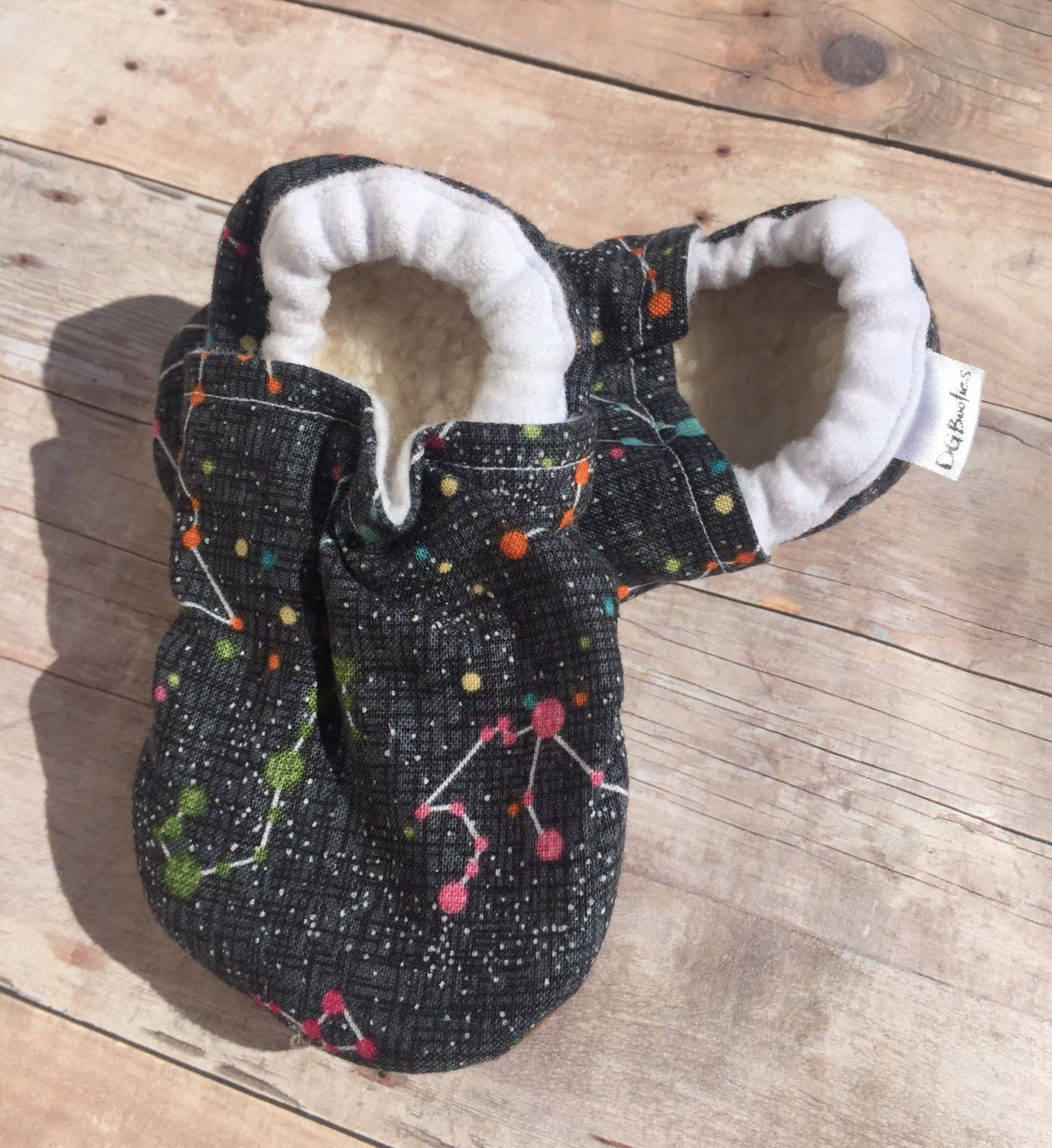 Constellation booties, Constellation Moccs, Star soft sole shoe, Baby Shower Gift, Unisex Booties, Star Moccs, Star Booties by DGBooties on Etsy