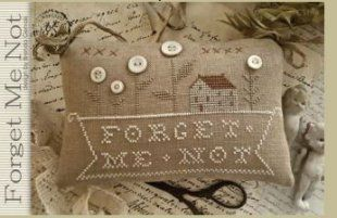 Forget Me Not is the title of this cross stitch pattern ...