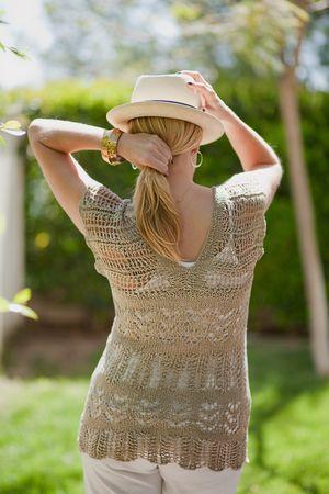 """Jordan"" linen lace tunic #knit pattern by Wendy Bernard, $6 on Ravelry or knitandtonic.net"