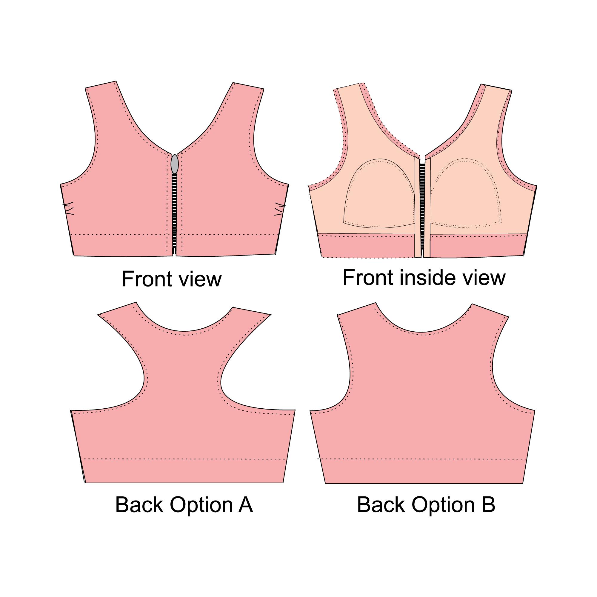 patrones de costura sujetador deportivo | ropa intima | Pinterest ...