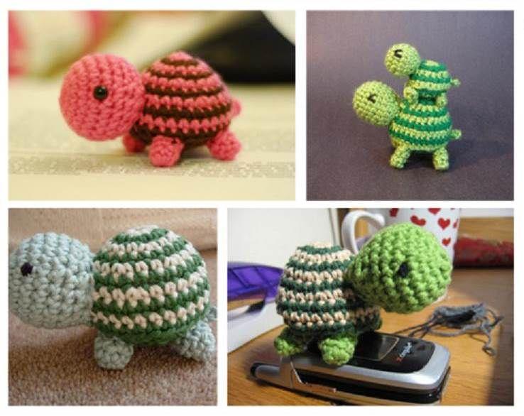 How to DIY Adorable Striped Crochet Turtle | Tiere häkeln ...