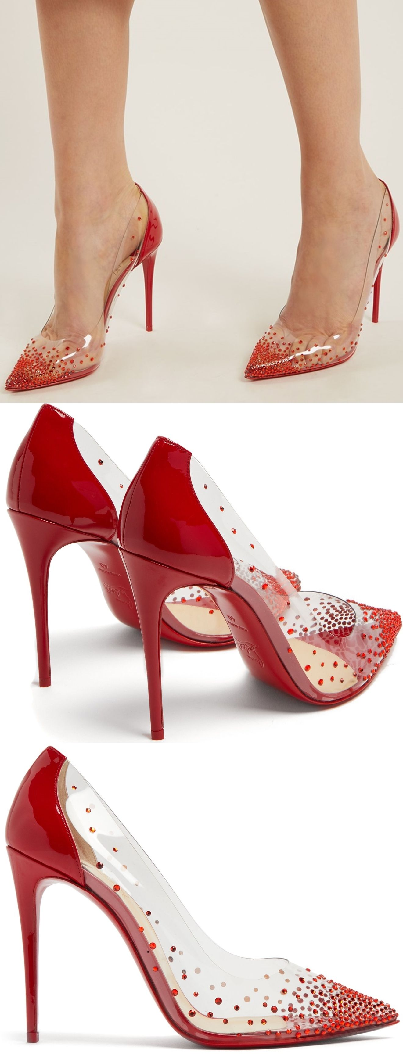 e03b93fa937 Assembled from clear PVC and red patent leather