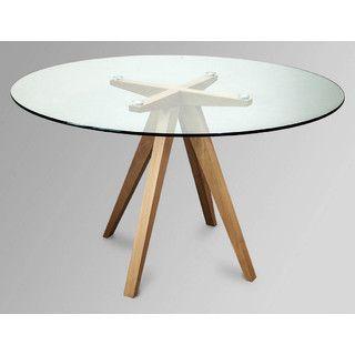 Retro Scandinavian Round Dining Table 120cm D X 73cm
