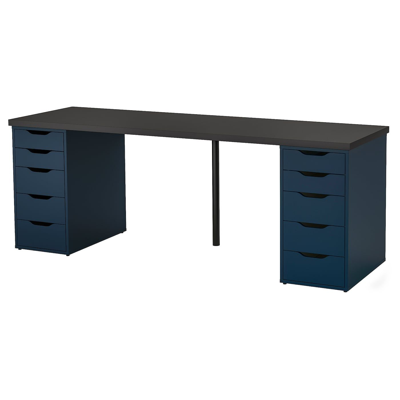 Table Black Brown Blue 78 3 4x23 5 8 Ikea Large Desk Drawer Unit