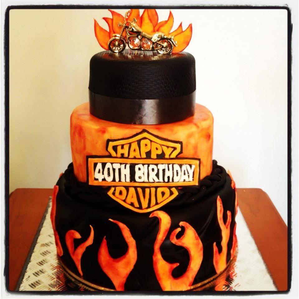 Harley cake cake happy 40th birthday desserts