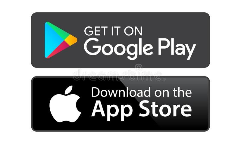 Google Play App Store Google Play And App Store Icons On White Background Edi Ad Store Icons App Google Play Ad