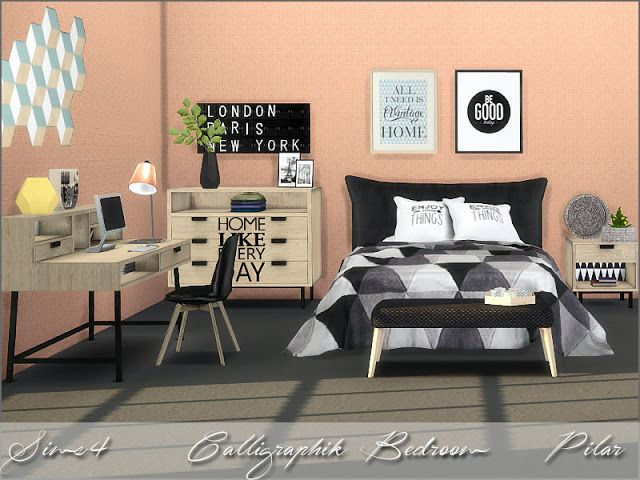 Sims 4 Cc S The Best Bedroom By Pilar Sims Haus Modernes Schlafzimmer Schlafzimmer Set