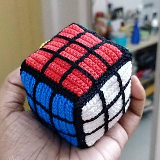 Amigurumi Rubik's Cube pattern by Daisy Ransom #slipstitch
